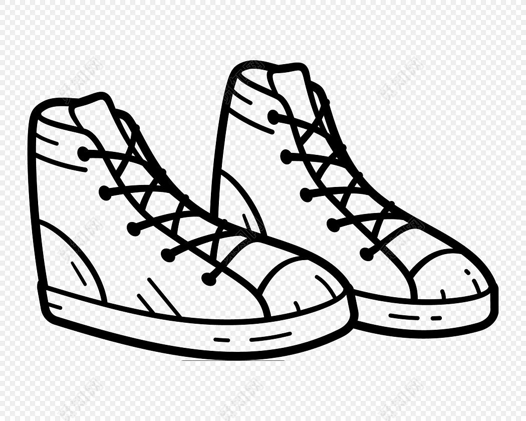 鞋子侧面简笔画
