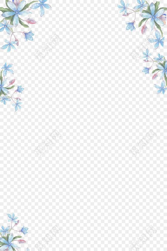 淡雅文艺小清新水彩花卉边框
