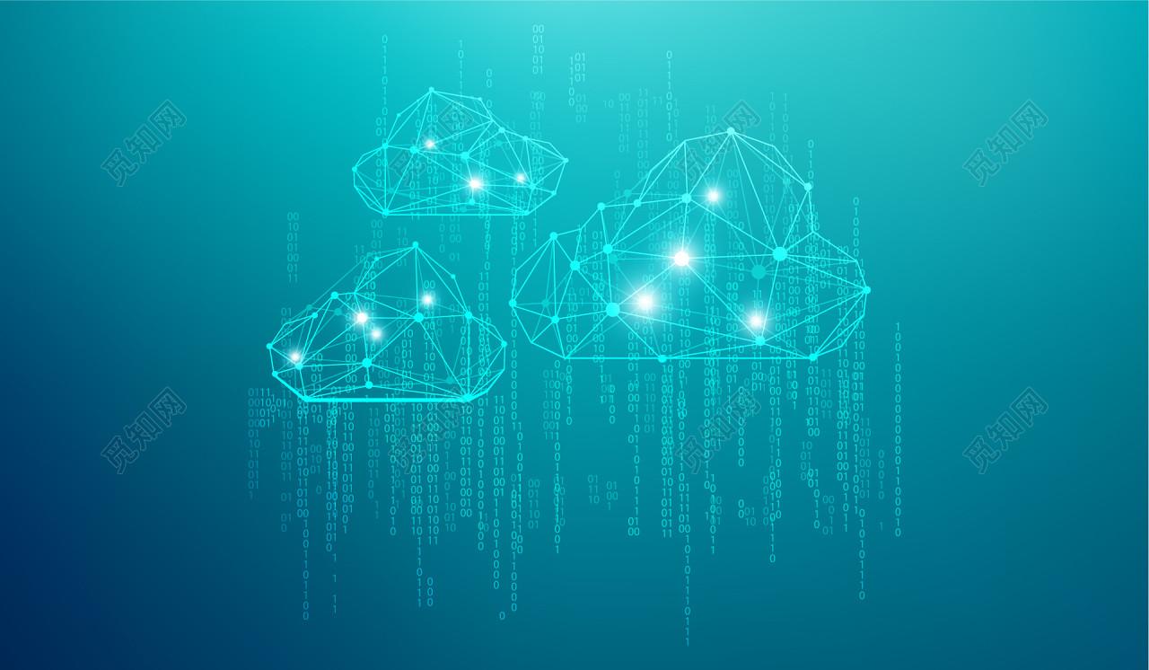 蓝色科技大数据云计算海报背景免费下载_背景素材_觅