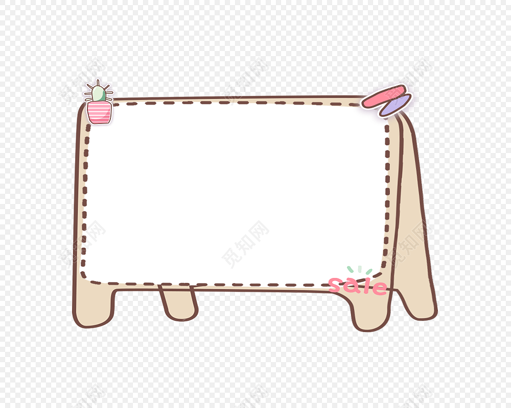 手绘卡通画框花边边框素材