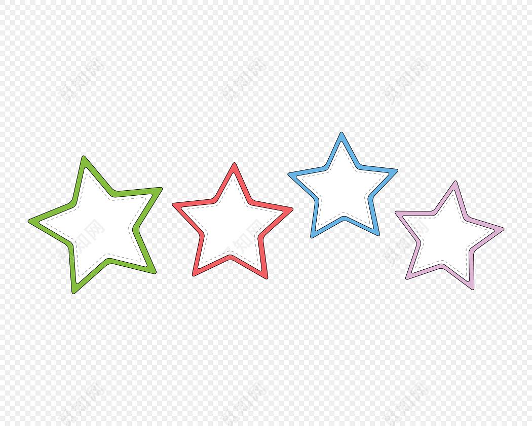 手绘卡通星星花边边框素材