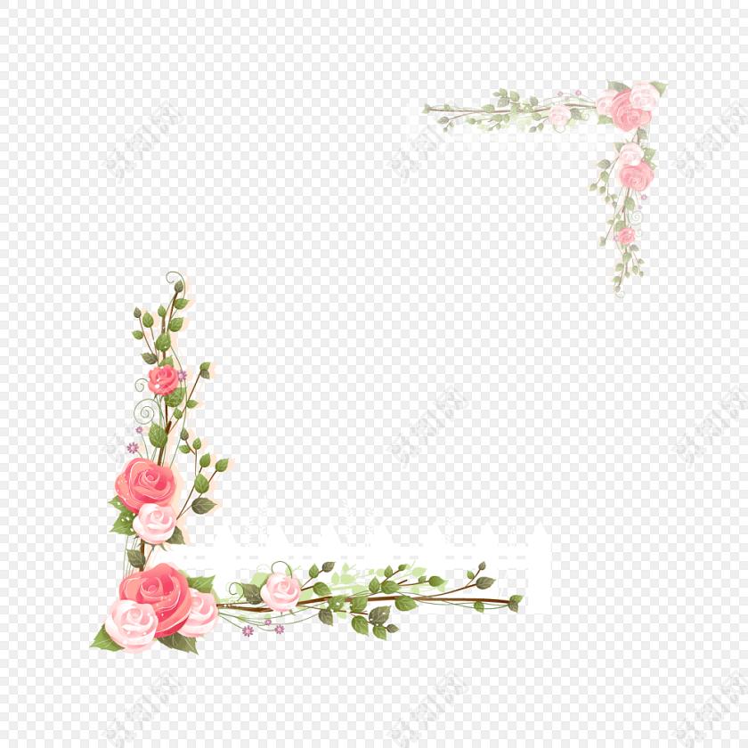 美丽花草装饰小报图框图片素材免费下载_觅知网