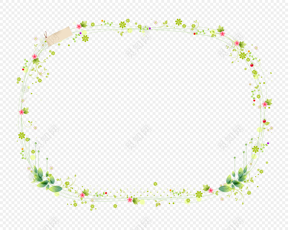 png素材清新花草装饰小报图框花边边框小报边框标签:png素材 免抠素材