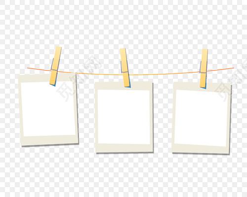 夹子相框花边边框相框免费下载_png素材_觅知网