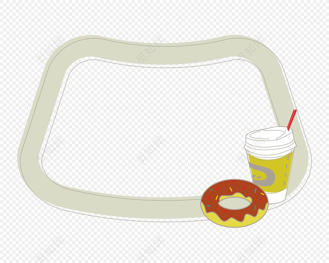 卡通食物花边边框