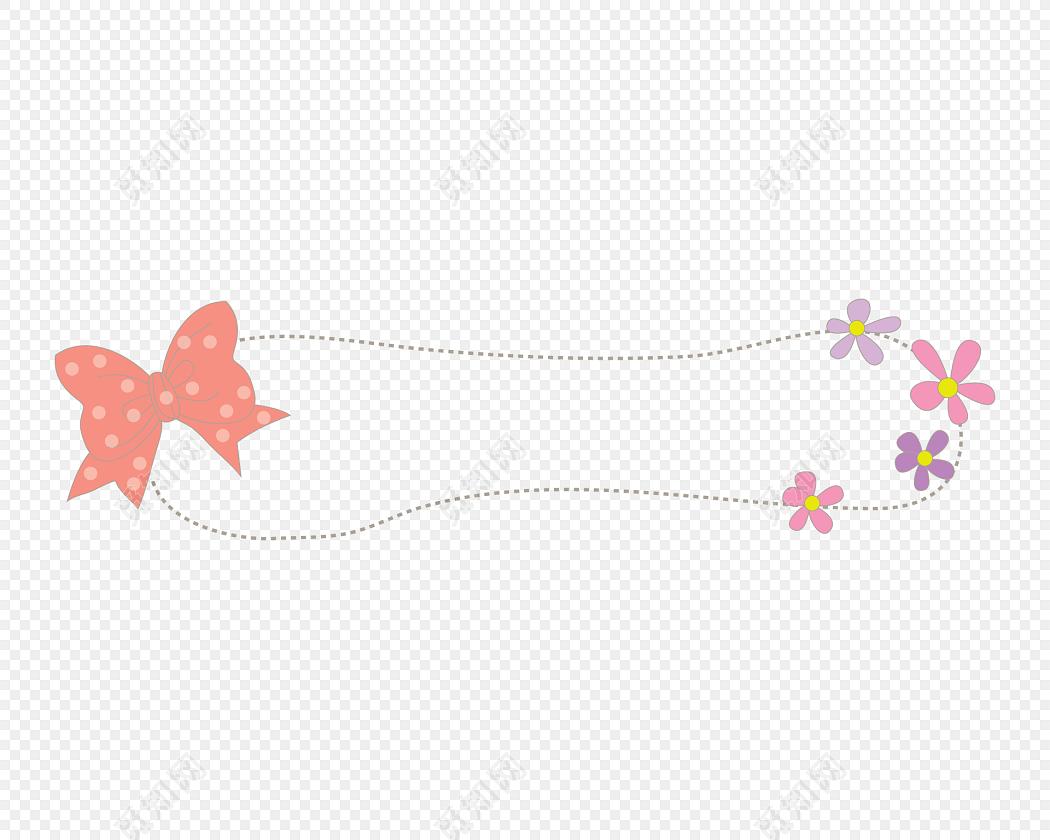 rgb 源文件格式: ai 免费下载png免费下载ai png素材花朵蝴蝶结标题栏