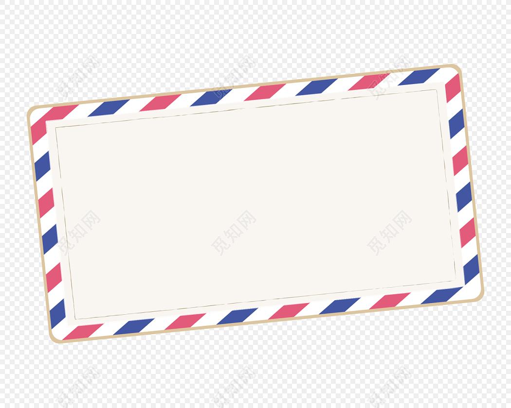 信封元素花边边框