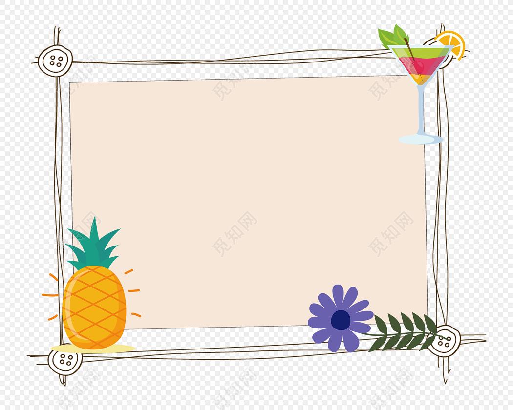 卡通装饰图框花边边框小报边框免费下载_png素材_觅