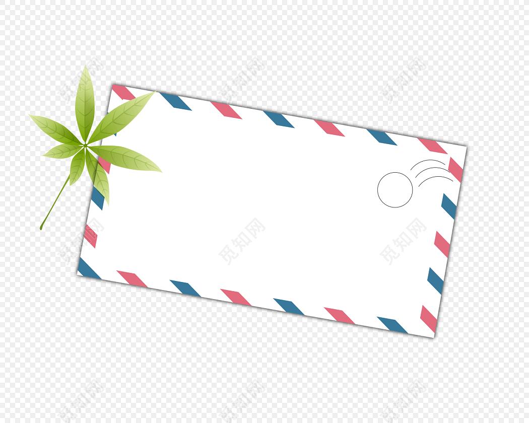 手绘卡通信封花边边框素材