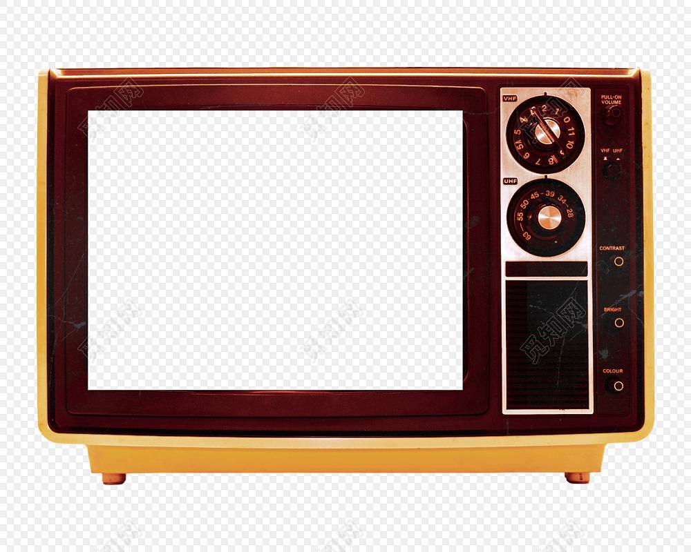 手绘卡通电视机花边边框素材图片