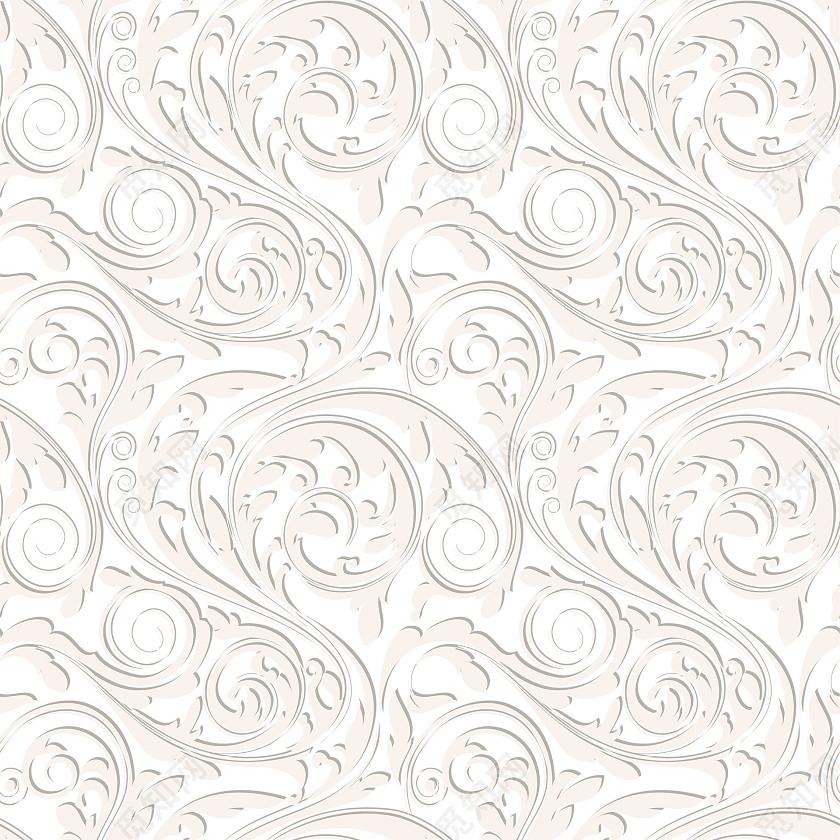 白色花纹底纹素材