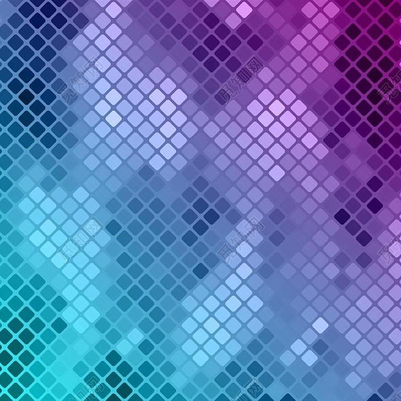 蓝紫色渐变格子马赛克炫彩背景免费下载_背景素材_觅