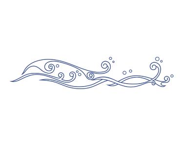 細長古典水紋波浪