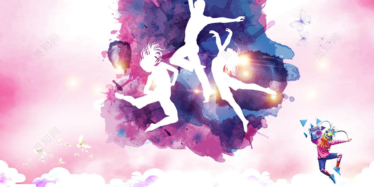 彩墨校园文化艺术节晚会海报背景素材免费下载 校园文化 才艺大赛