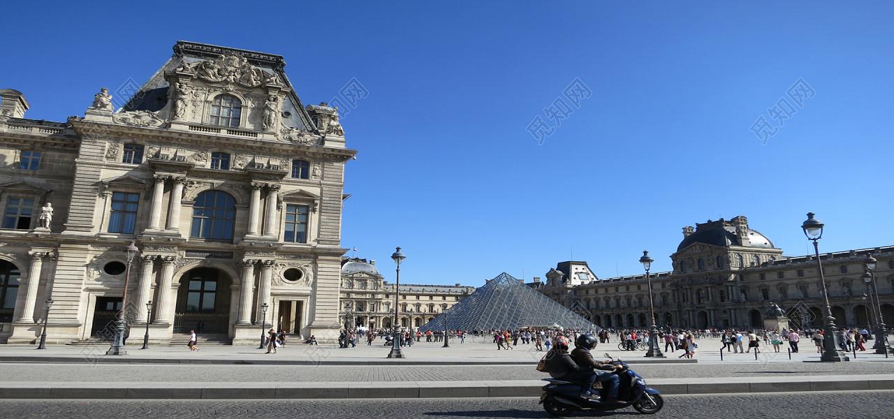 法国建筑街拍背景