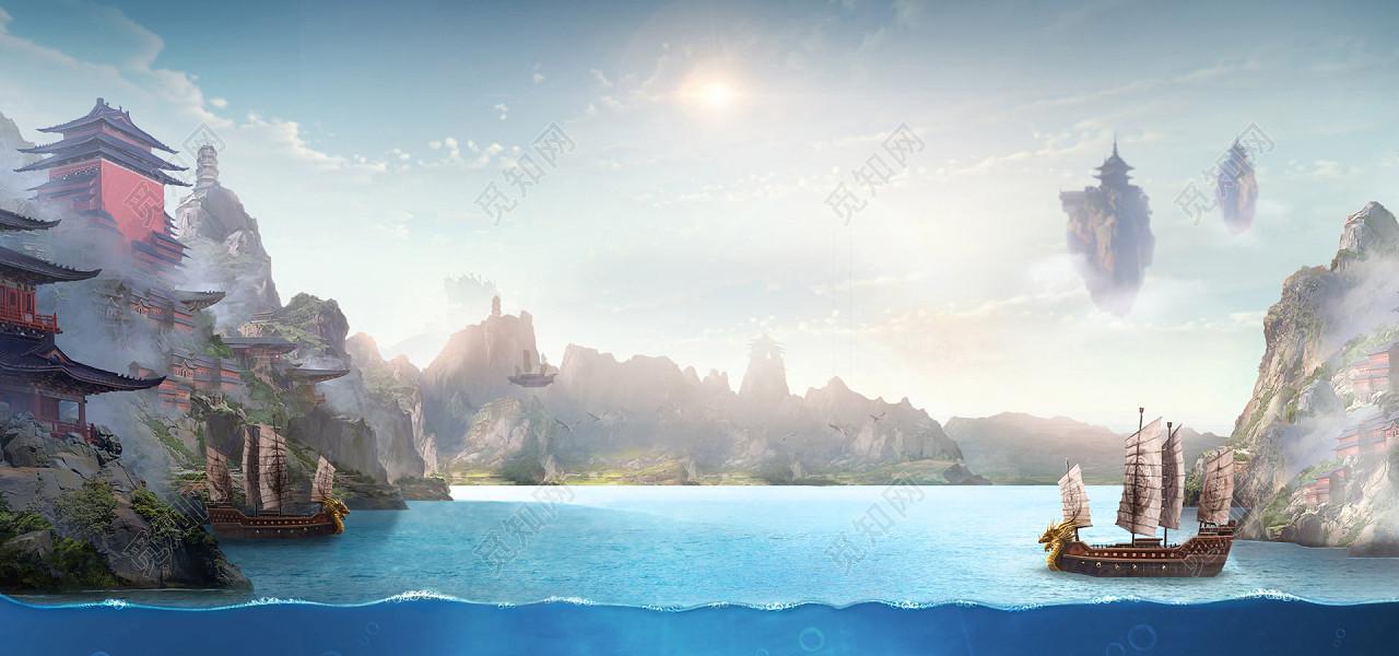 中国风古风淘宝海报背景免费下载_背景素材_觅知网