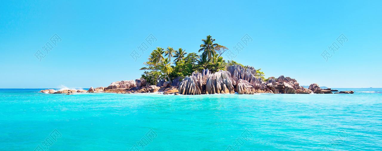 蓝天大海海岛风景免费下载_背景素材_觅知网