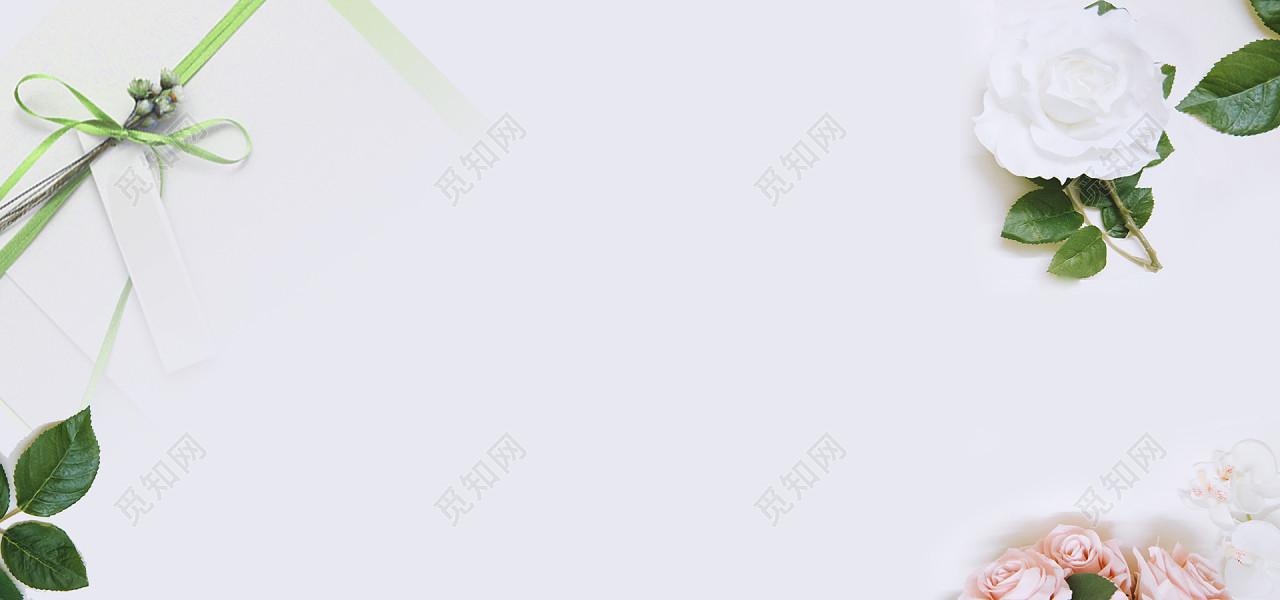 清爽简约温馨淘宝海报背景免费下载_背景素材_觅知网