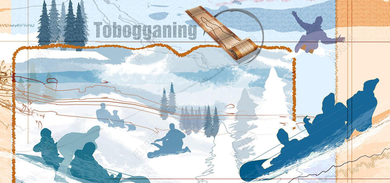 jpg 免费下载jpg 背景素材奥运会冬奥会运动会滑雪卡通涂鸦背景标签