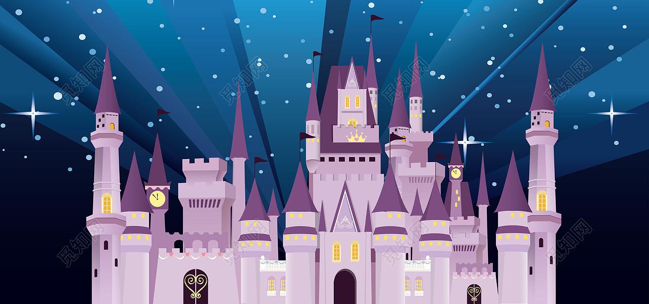 jpg 授权方式: 原创非商用授权 下载jpg 背景素材 卡通迪士尼城堡图片