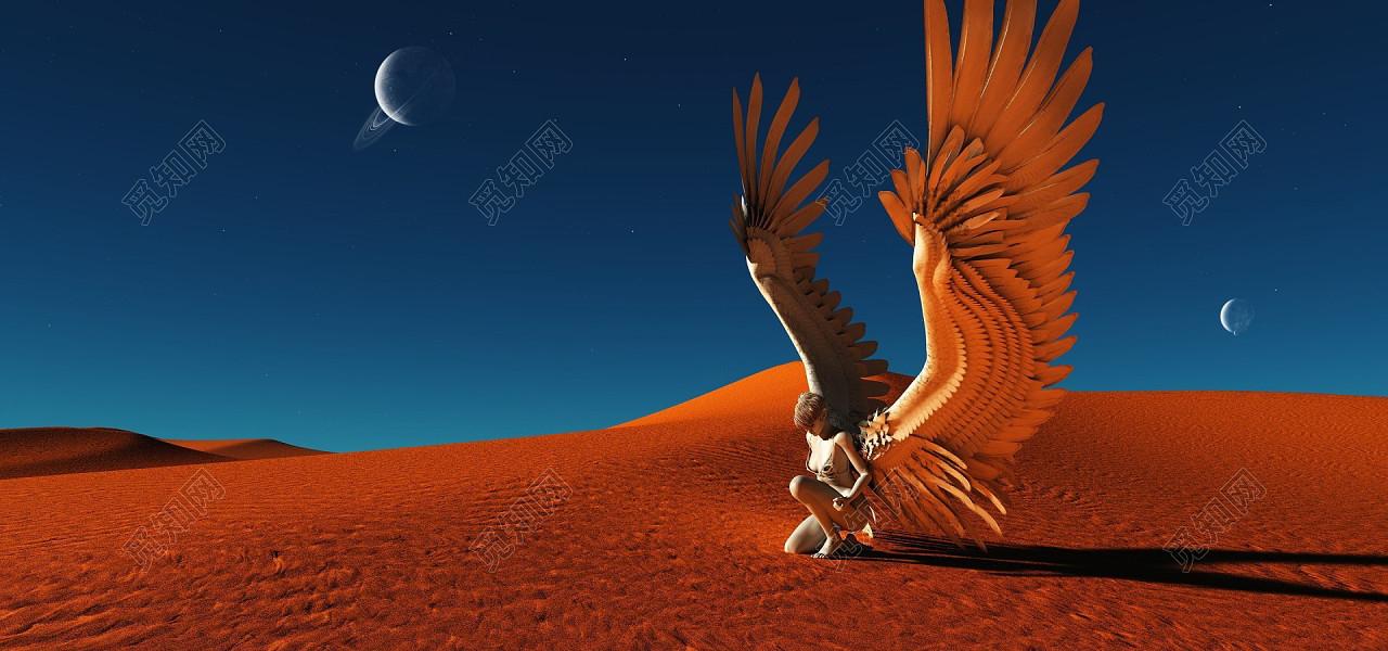 科幻电影沙漠背景宣传海报免费下载_背景素材_觅知网