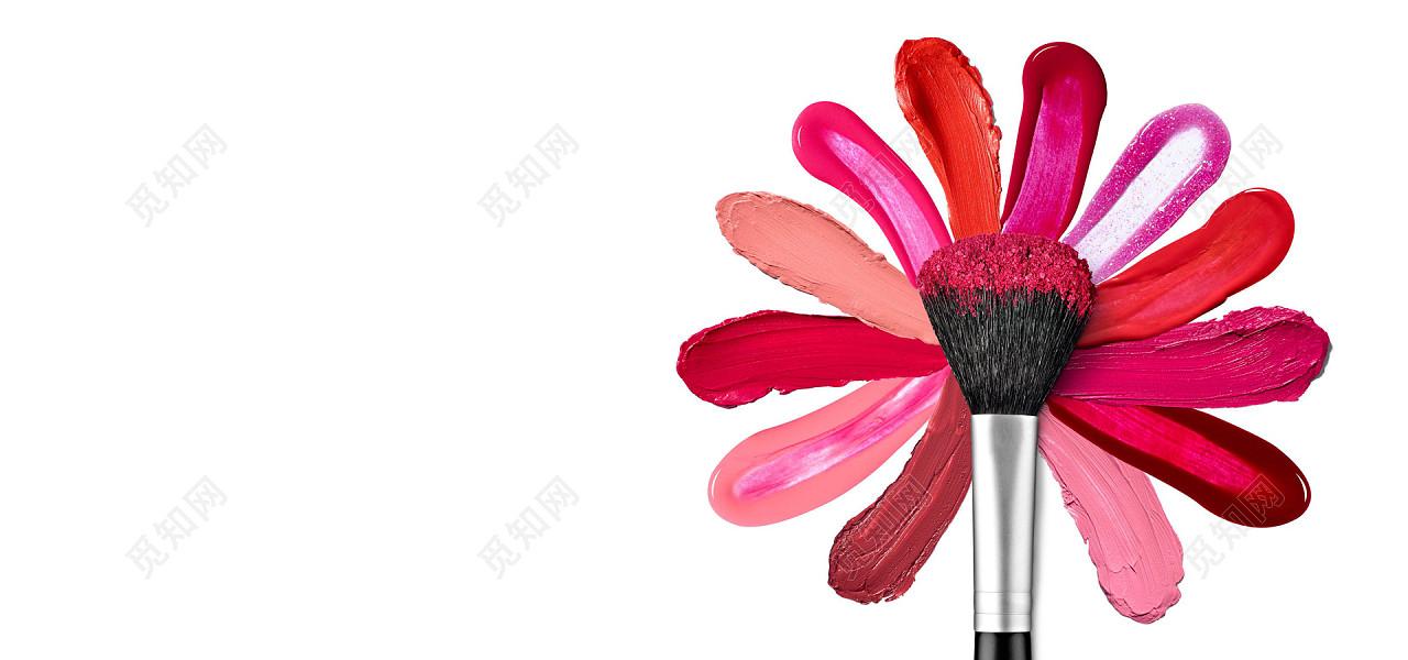 jpg 免费下载jpg 背景素材简约彩妆背景标签:背景素材 粉饼 化妆 口红