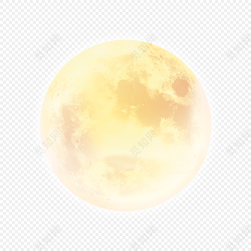手绘月亮中秋节素材