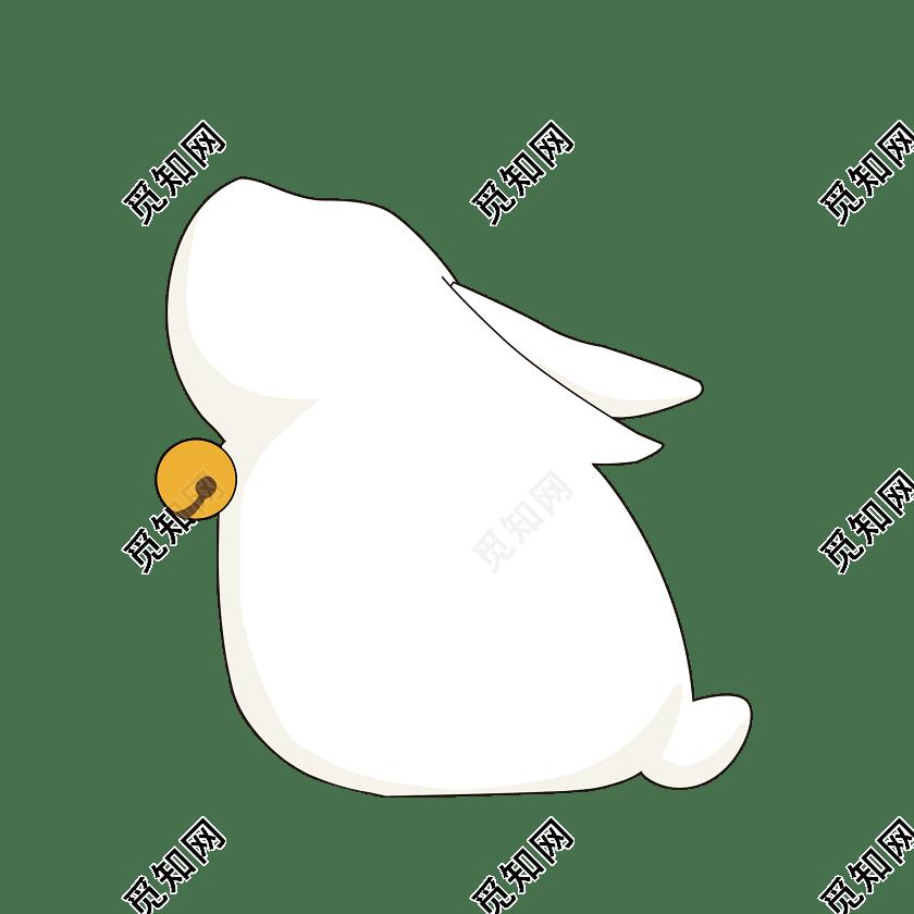 卡通兔子边框