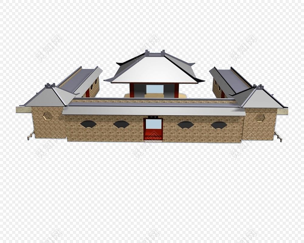 古建筑矢量图