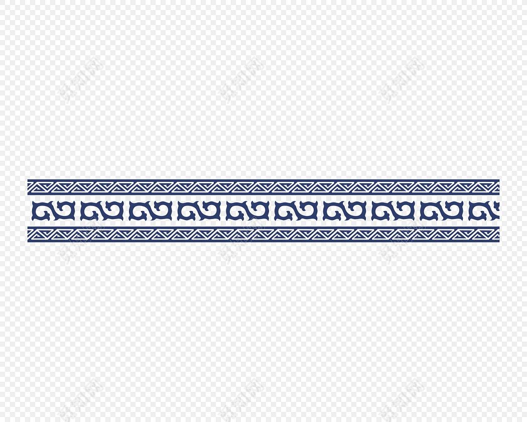 传统青花瓷边框素材