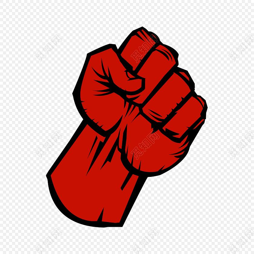 红色合作共赢加油素材