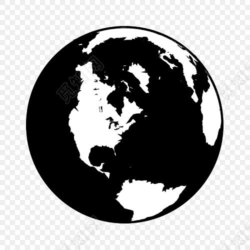 创意黑白地球行星素材