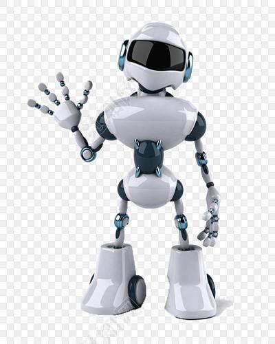 卡通机器人矢量图素材