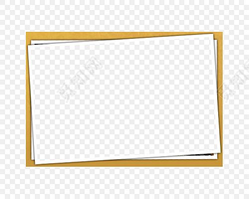 黄色小清新简约边框相框素材