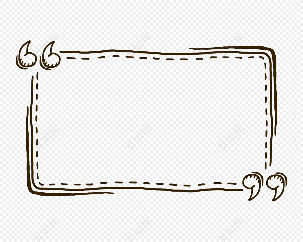 小清新手绘边框素材