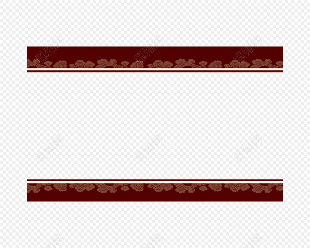 红色祥云中国风古典边框