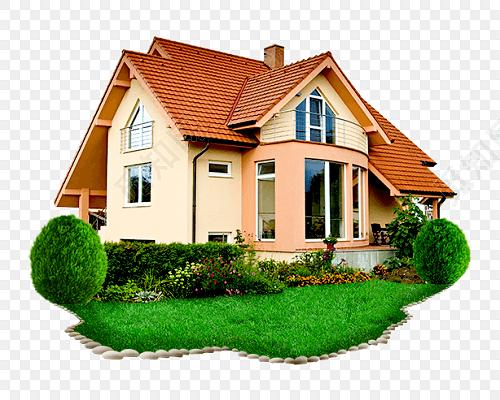 欧式别墅美丽建筑房子矢量图下载