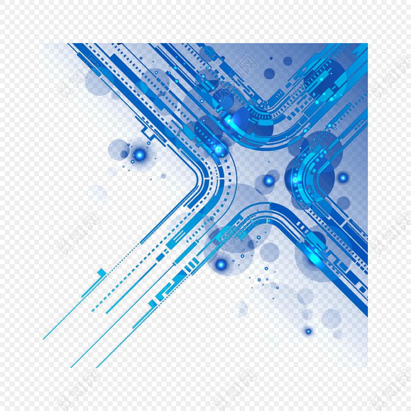 科技网络时空矢量图素材
