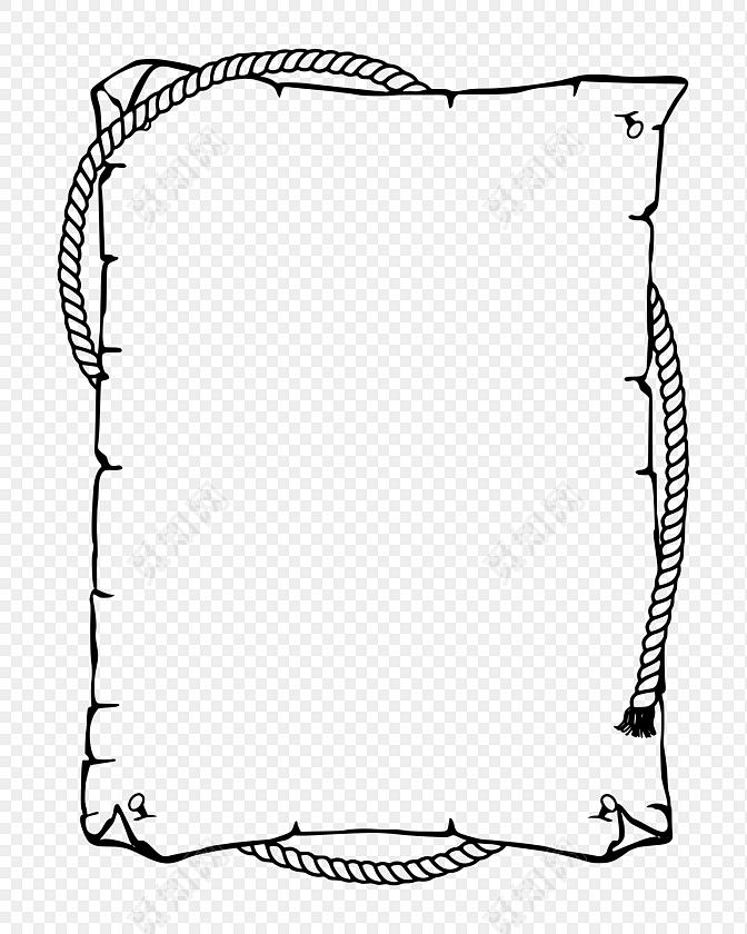 书页黑色简约扁平边框素材