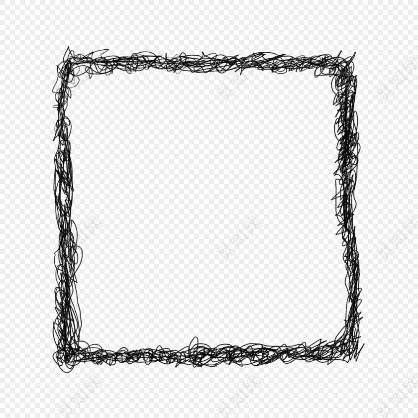 黑线缠绕个性边框素材