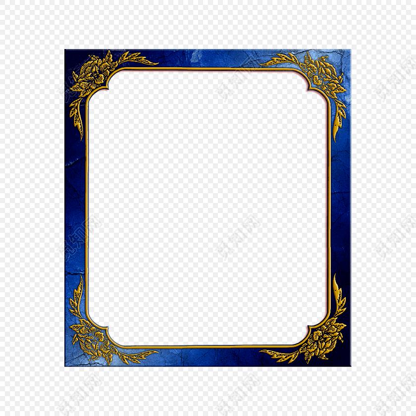 条纹金属古典大气边框素材