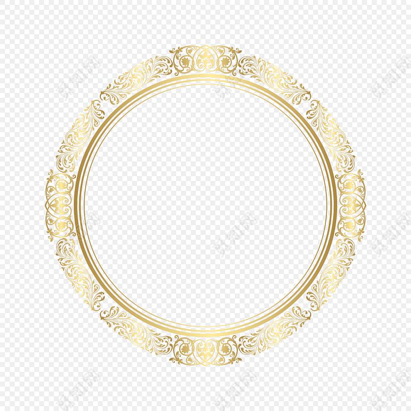 简约传统圆形边框素材
