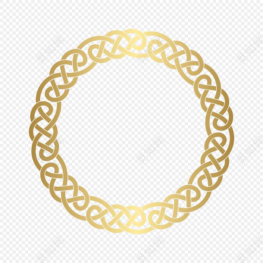 传统圆形边框素材
