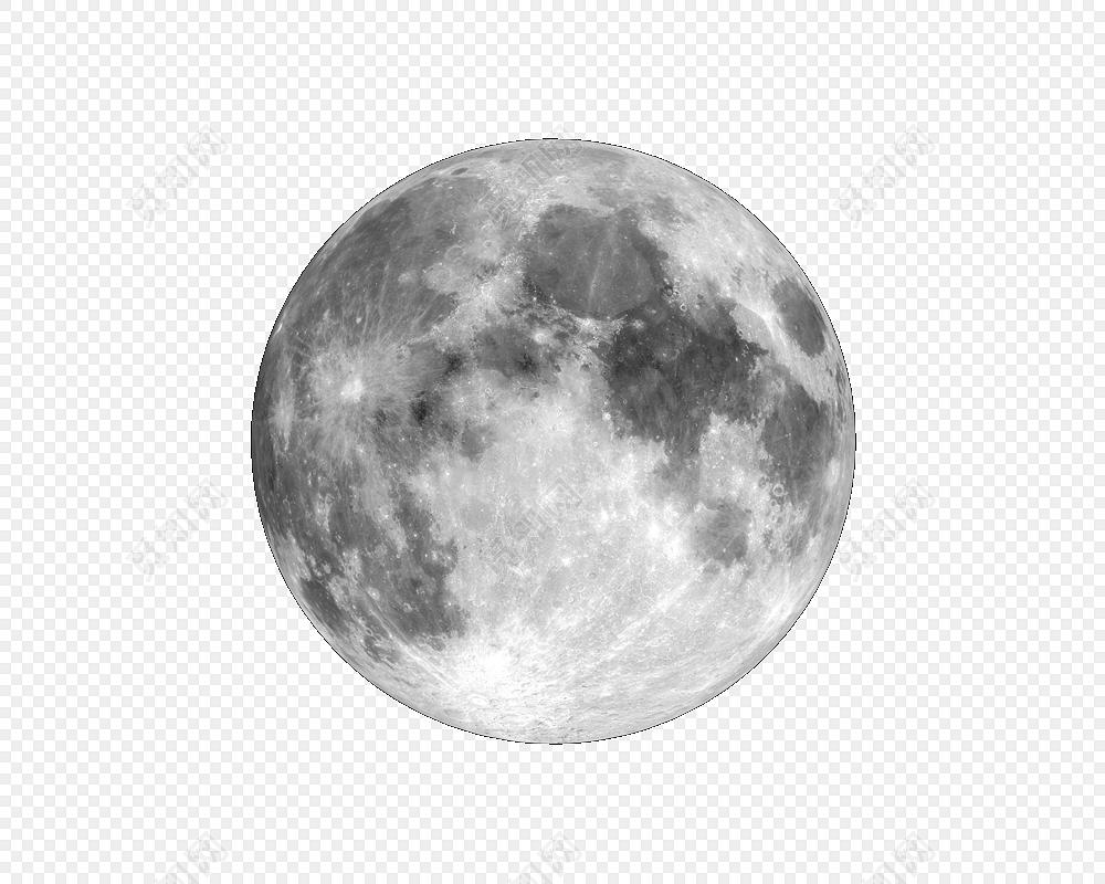 渐变色立体月球月亮素材免费下载_png素材_觅知网
