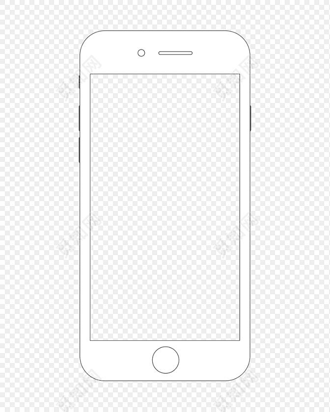 手机线条素材