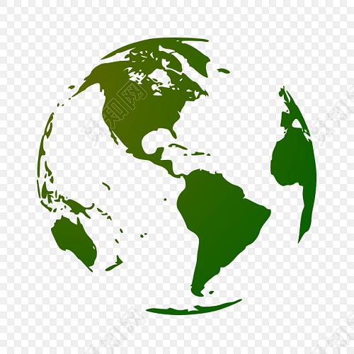 手绘地球地图素材