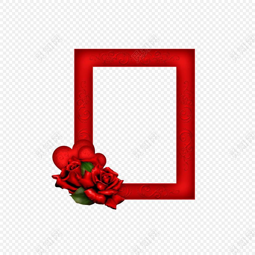 红色相框边框装饰素材