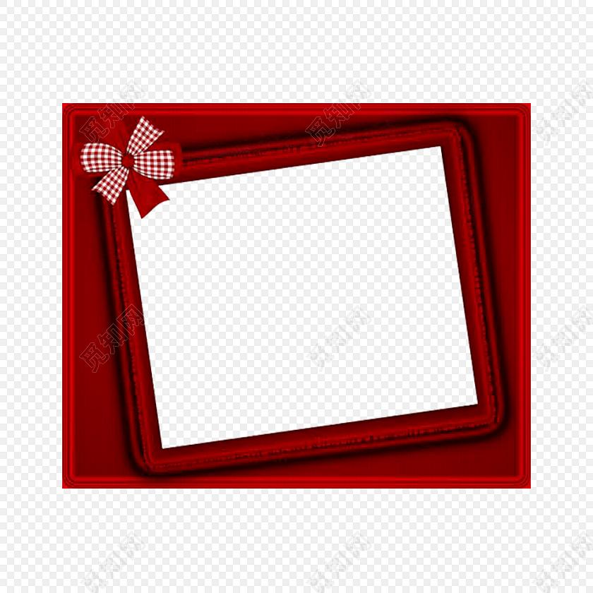 蝴蝶结装饰边框相框素材