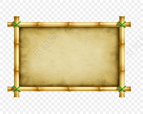 竹子装饰边框素材下载