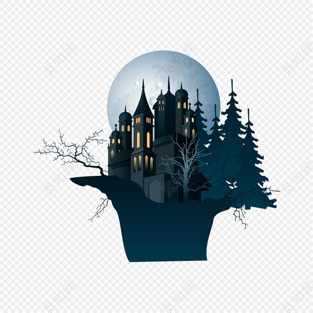 万圣节城堡免费下载_png素材_觅知网